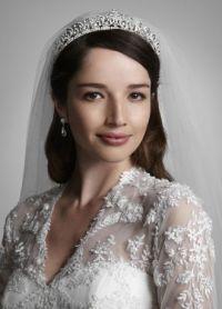 Tiara with Crystal Scroll Design   David's Bridal