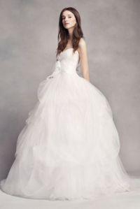 White by Vera Wang Taffeta and Tulle Wedding Dress ...
