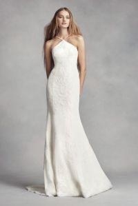 White by Vera Wang Halter Sheath Wedding Dress | David's ...