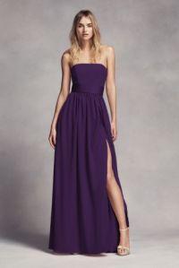Long Strapless Bridesmaid Dress with Belt | David's Bridal
