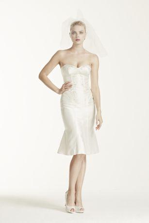 Truly Zac Posen Short Wedding Dress with Corset  Davids Bridal