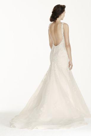 Long mermaid trumpet romantic wedding dress jewel also tall davids bridal rh davidsbridal