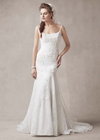 Melissa Sweet Trumpet Wedding Dress with Venise Lace Appliques Style MS251071  eBay