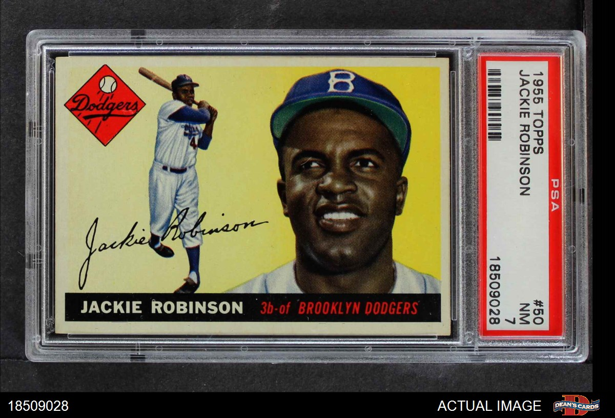 Topps 50 Jackie Robinson Dodgers Psa 7 A