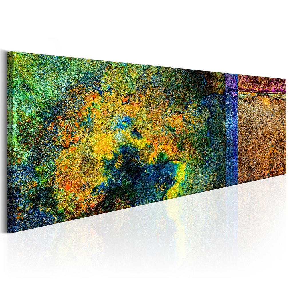 LEINWAND BILDER Abstrakt mehrfarbig WANDBILDER XXL Wohnzimmer KUNSTDRUCK 12 Farb  eBay