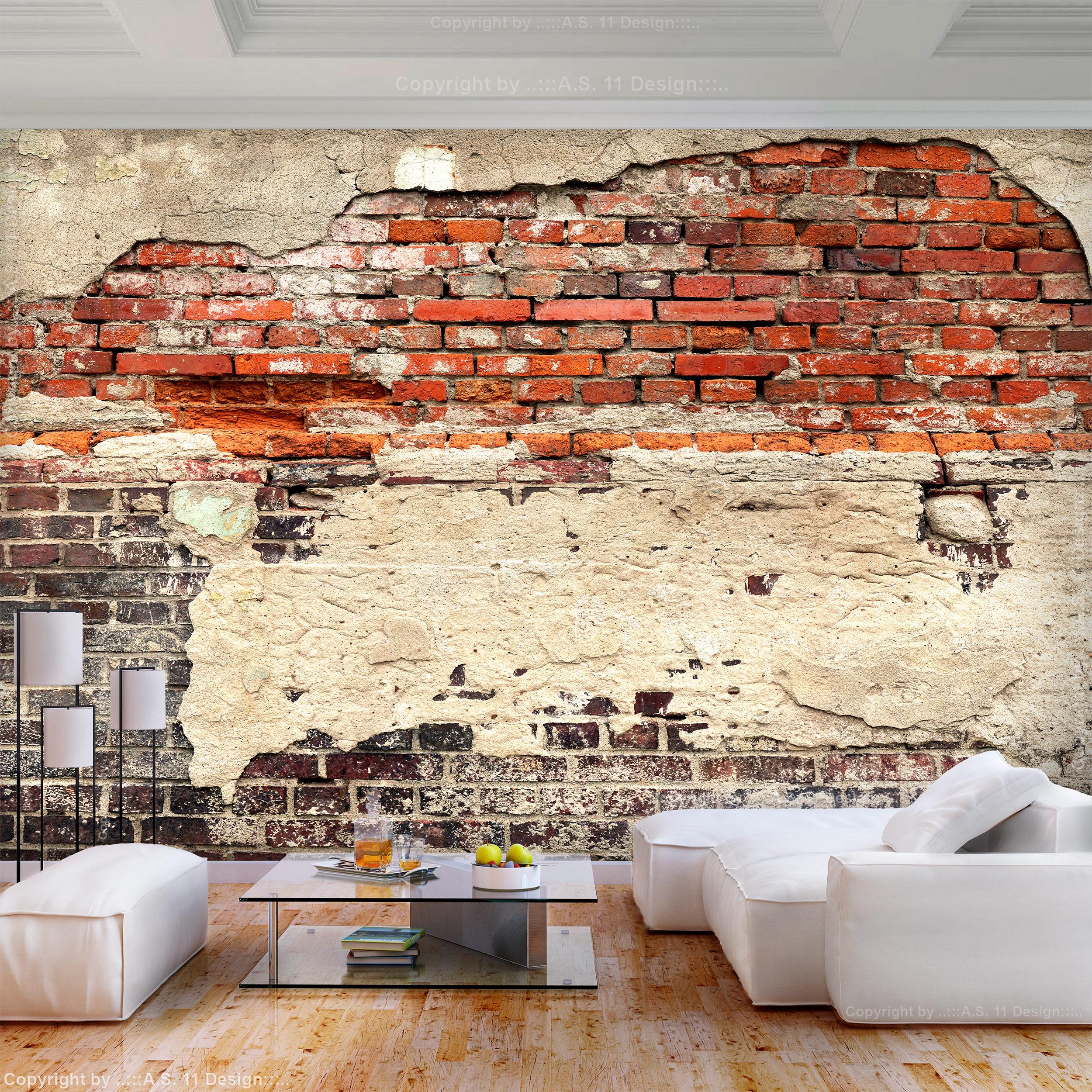 VLIES FOTOTAPETE Stein TAPETEN Mauer Zigel TAPETE Wandbilder xxl Wohnzimmer 3Far  eBay