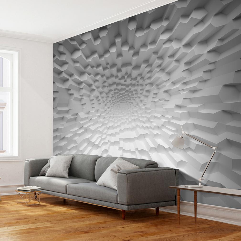 Vlies Fototapete 3d Effekt Optik Grau Tapete Tapeten