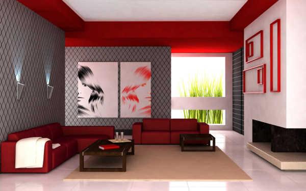 sala en color rojo | Muebles Nina