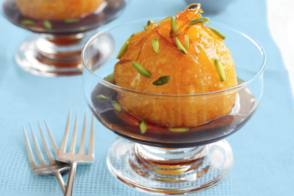 Caramel oranges in hot coffee syrup  Recipes  delicious