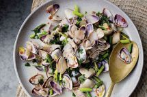 Smoked Pipis With Chilli And Garlic Shoots - Recipes