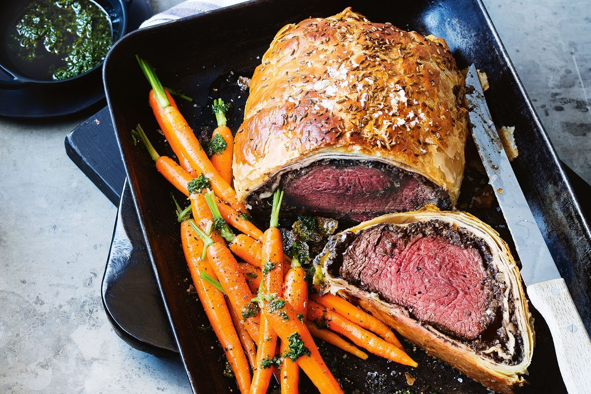 kitchen prep table wooden sets colin fassnidge's beef wellington (or dublin) - recipes ...