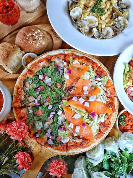 【台中/彰化x食記】米蘭街義式小館。老宅改建玻璃屋。獨家七款手工義麵任搭。可全素/兒童餐。手工現烤披薩