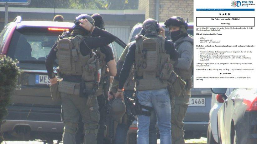 Duisburg Polizei sucht mit Flugblatt nach Bankruber  Duisburg  derwestende