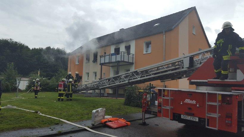 Dortmunder Wohnung brannte lichterloh  groer Feuerwehreinsatz  Region  derwestende