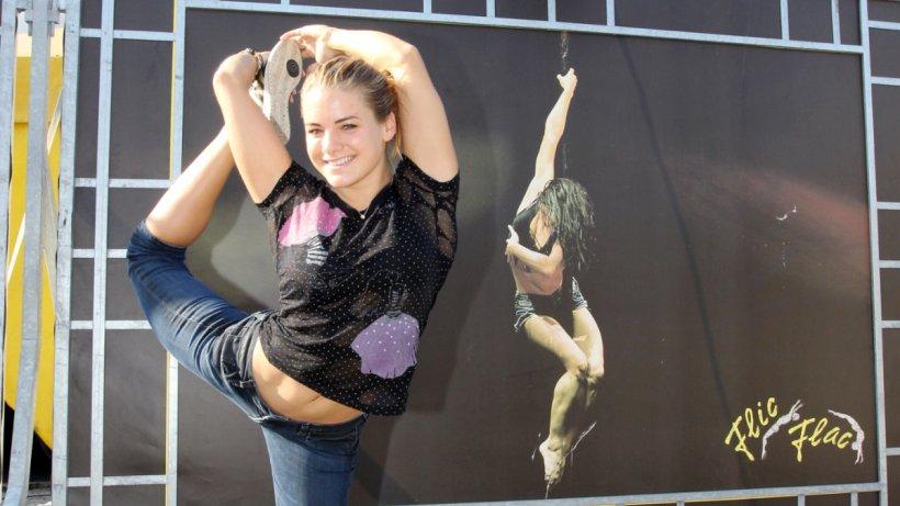 CircusKind Larissa Kastein tritt bei Flic Flac in