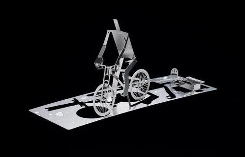 Cool 3D Metal Fold Out Business Card Design Design Swan