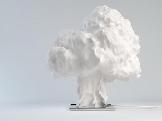 Unusual Mushroom Cloud Shaped Lamp  Design Swan