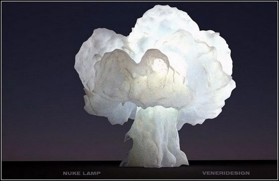 Unusual Mushroom Cloud Shaped Lamp  Design Swan