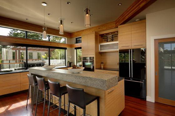 Contemporary Wooden and Glass House Designs by Keith Baker