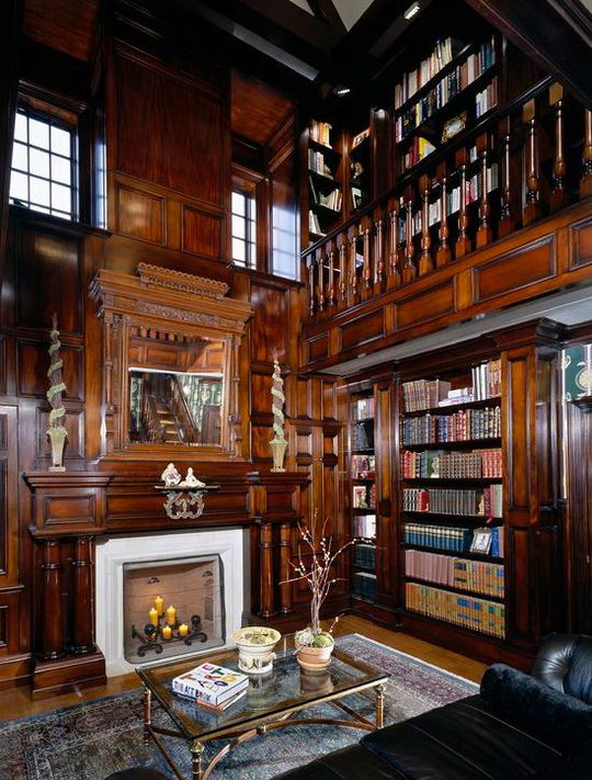 chair with built in bookshelf gold dining covers 24 beautiful and cozy home library ideas | design swan