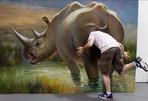 Chinese Magic Art Exhibition Interactive 3D Painting