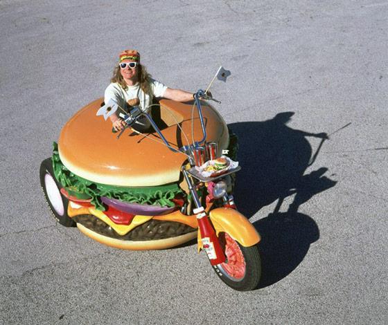 Hamburger Motorcycle A Hamburger Shaped Harley Davidson