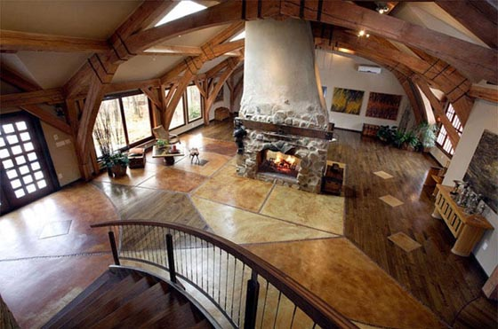 Unique Timber Framed House Effortlessly Fuse Modern And