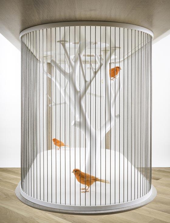Cage Archibird a Modern Bird Cage Doubles as a Table