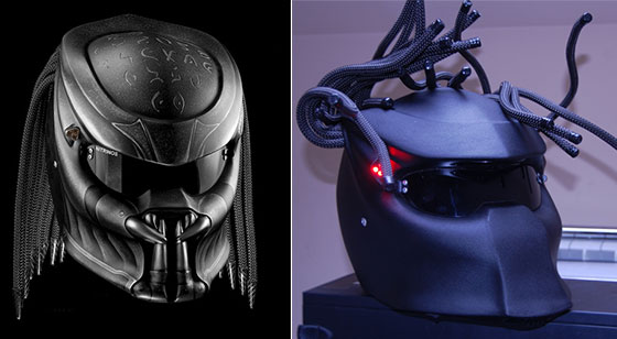 Extremely Cool Predator Motorcycle Helmet by Nitrinos  Design Swan