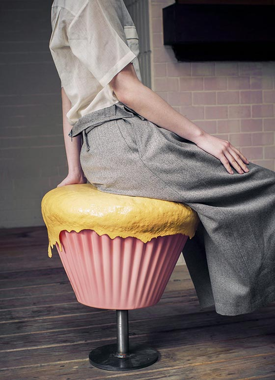 Sweeties Furniture Cupcake Stool And Biscuit Table
