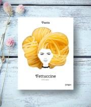 pasta hair creative concept