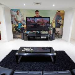 How Much To Paint Living Room Organizer Epic Video Game With Immersive Wall Mural | Design Swan