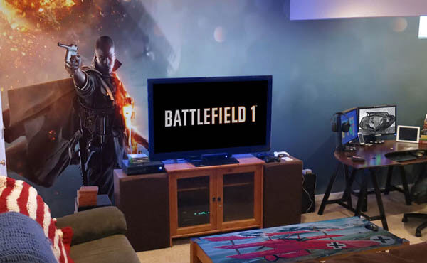Tanya collier even the home design novice knows that beautiful décor is all in the details. Epic Video Game Room with Immersive Wall Mural - Design Swan