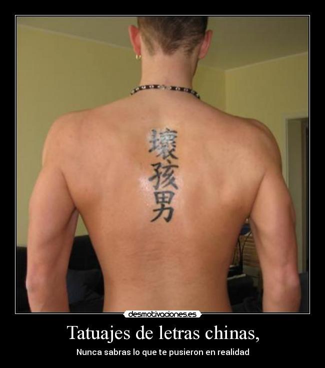 Tatuajes De Letras Chinas Desmotivaciones