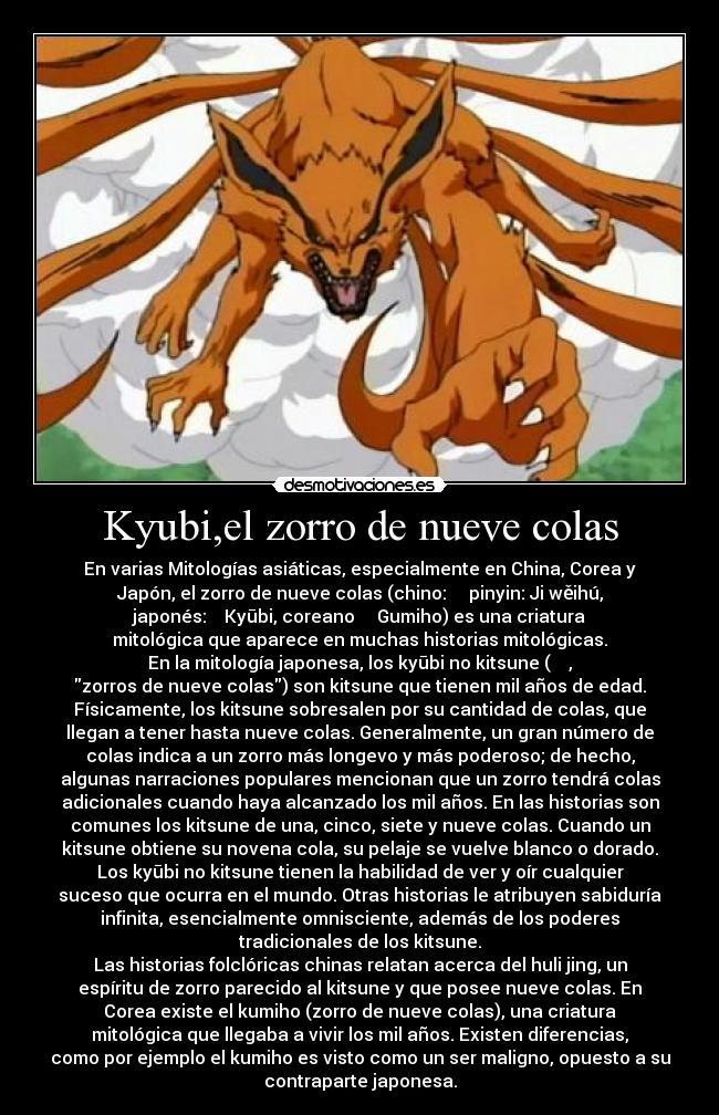 Kyubiel Zorro De Nueve Colas Desmotivaciones