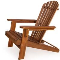 Wooden Foldable Chair Adirondack Wood Patio Outdoor Garden