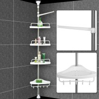 Telescopic Bathroom Shower Shelf Adjustable Corner Rack 4 ...