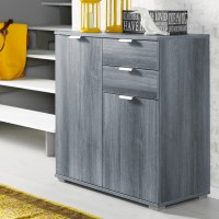 Sideboard Cabinet Modern Wooden Large Storage Commode High ...