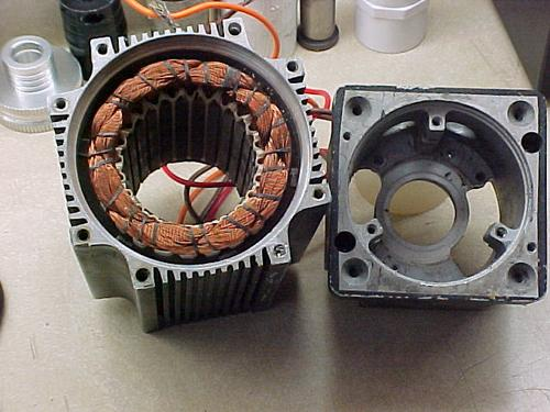 Typical windings in a brushless motor stator, showing complete slot fill. Redundant design is required for space applications, as a backup in case of component failure. When the engineer decides to have redundant windings, something has to change in terms of motor performance. To preserve performance specs, a better solution to mechanical redundancy is electrical redundancy in the same mechanical housing. (Source: Empire Magnetics)