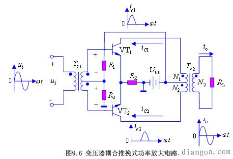 互補推挽式功率放大電路 - 電子技術_電工學習網