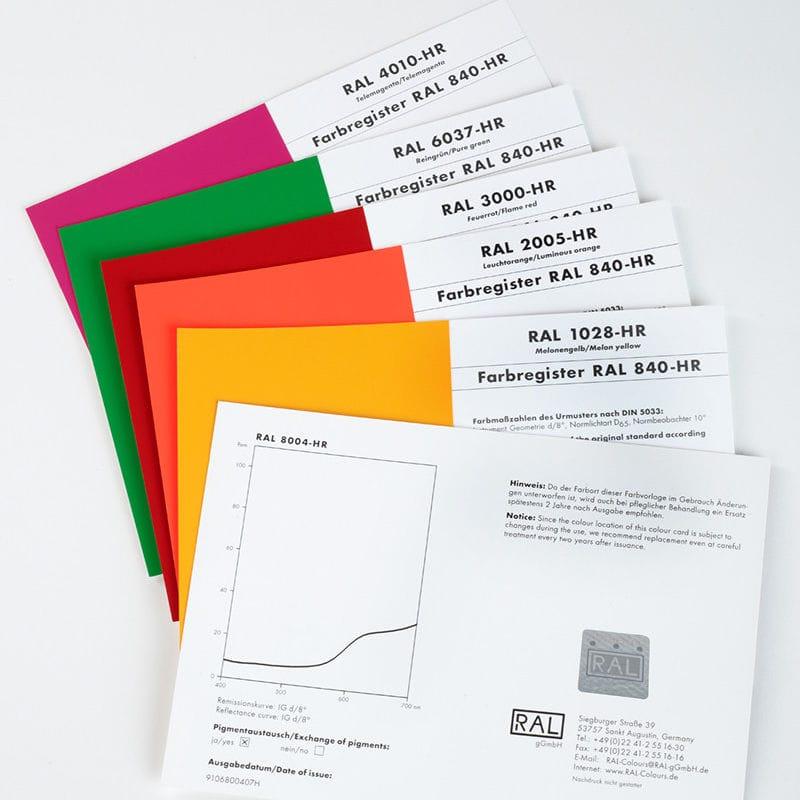 RAL比色圖表 - 840-HR single - RAL colours