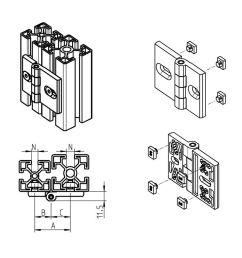 die cast zinc hinge concealed corner screw in [ 1000 x 1000 Pixel ]