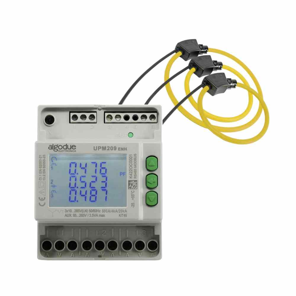 medium resolution of three phase power meter with rogowski inputs din rail upm209rgw