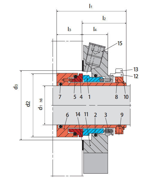 centrifugal pump mechanical seal diagram rheem furnace cartridge for pumps metal the chemical industry
