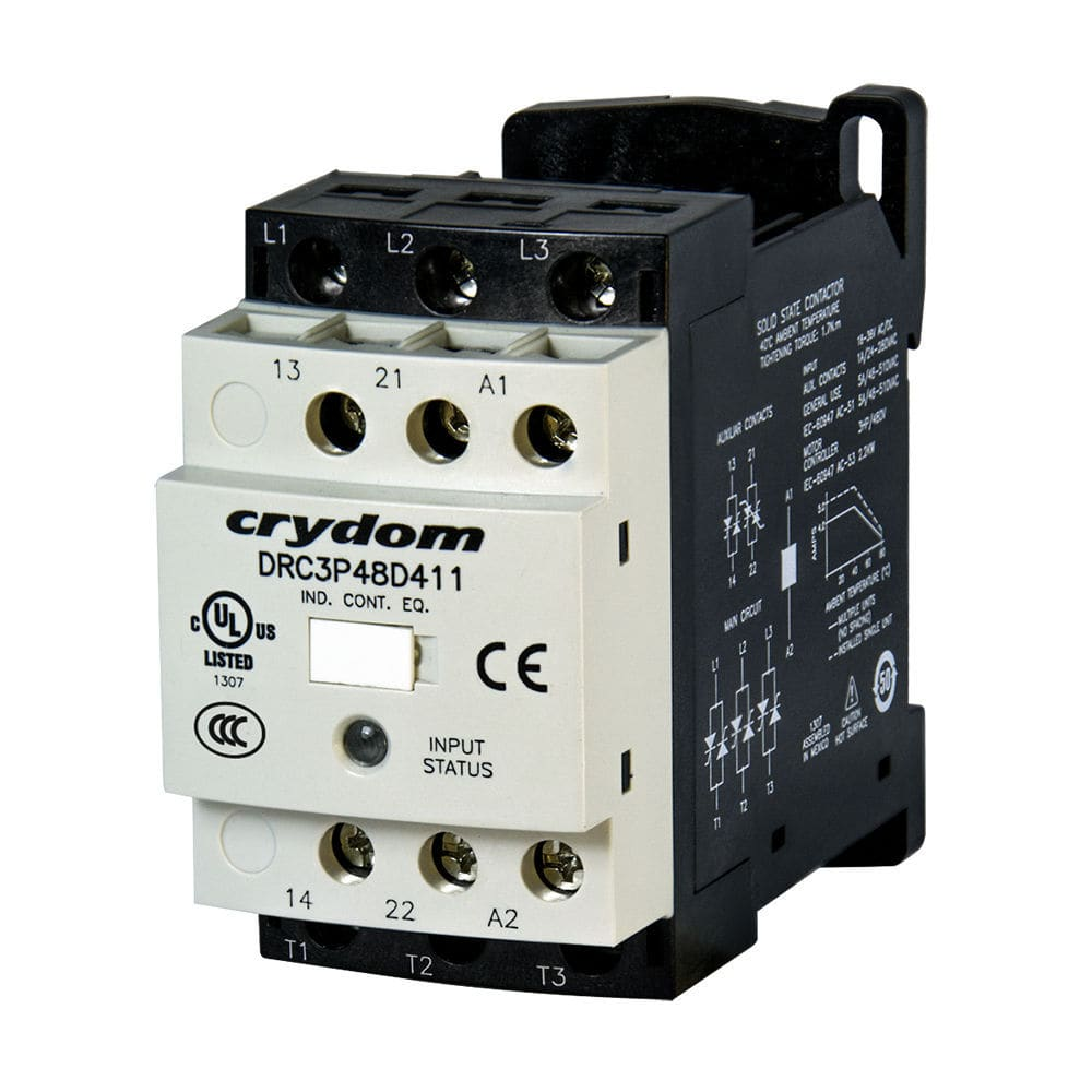 hight resolution of motor reversing contactor solid state three phase iec solicon drc series