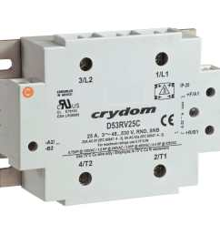 motor reversing contactor solid state ac three phase 53rv series [ 1000 x 1000 Pixel ]