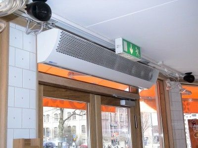 Hot Air Curtain Horizontal With Electric Heating For Cold