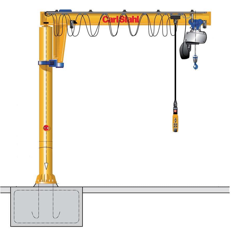 hight resolution of pillar jib crane electric inverted cs vs series