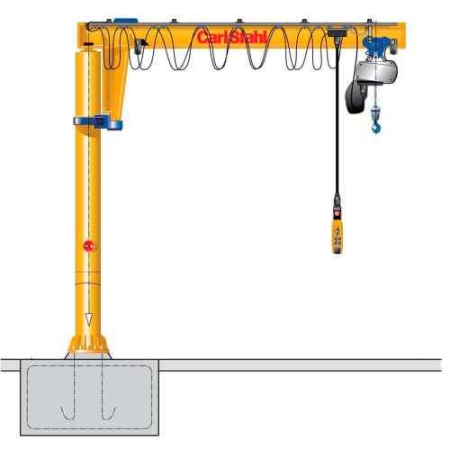 small resolution of pillar jib crane electric inverted cs vs series