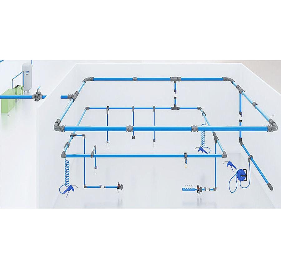 medium resolution of aluminum piping system pneumatics air compressor accessories